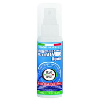 DISINFETTANTE LIQUIDO  SPRAY PER CUTE E SUPERFICI ML. 100 -80 GRADI ALCOOL